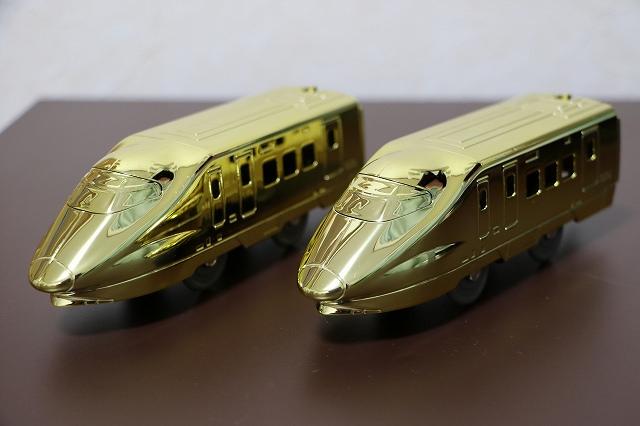 プラレール博 アトラクションプラレール 金メッキ後尾車両