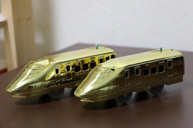 プラレール博 アトラクション 金メッキE2系新幹線 動力車